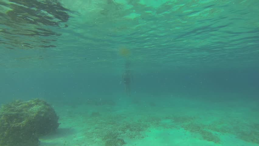 Seamless Looping Of A Greenish Underwater Texture Stock Footage