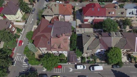 4K Aerial Cityscape Shot Of Bucharest, Romania