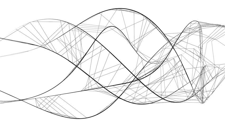 flowing black lines