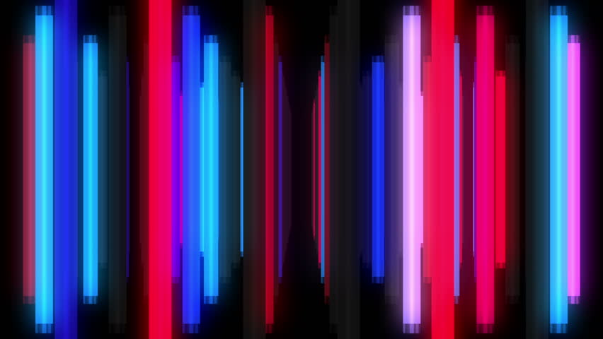 Seamless motion graphics footage of animated colorful neon lamps for music videos, DJs and VJs, show, events, festivals, concerts, night clubs and TV broadcast, exhibitions, youtube promo, video-art. | Shutterstock HD Video #20192233