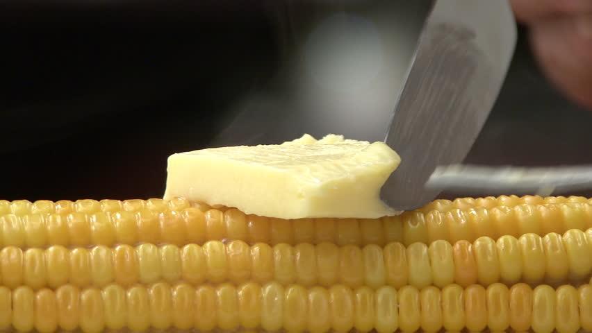 Sweetcorn and butter melting | Shutterstock HD Video #20216794