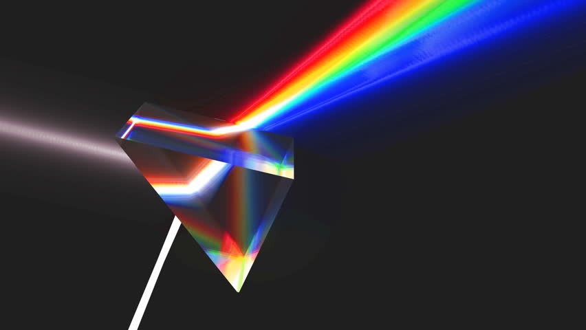 Prism Light Spectrum With Glare. Prism With High Key Glare ...