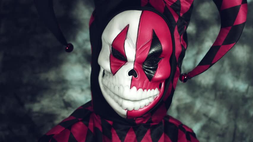 4k Halloween Shot of a Child in Joker Costume Turning to camera | Shutterstock HD Video #20253613