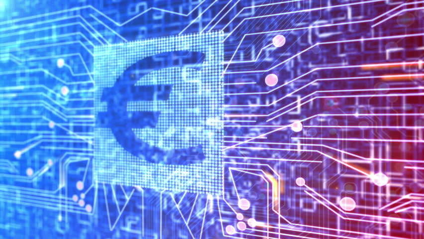 Animation of a circuit board and a Euro currency sign. | Shutterstock HD Video #2029768