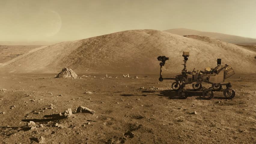 Mars curiosity rover moving