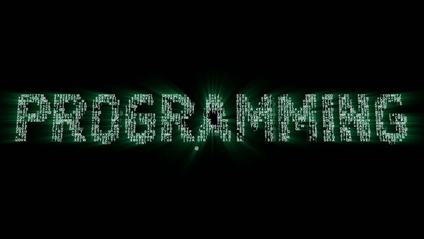 Programming Binary Code Intro Animation 2 | Shutterstock HD Video #20342443