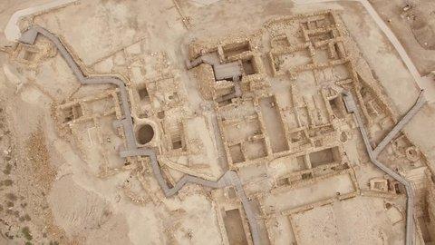 Qumran Visitors Center and Kalya - Israel aerial footage
