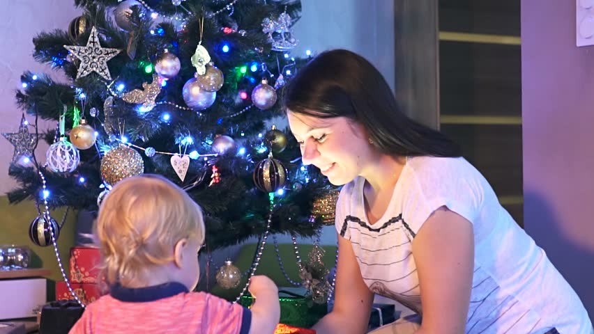 Christmas Gift With Light Surprise Stock Footage Video 100