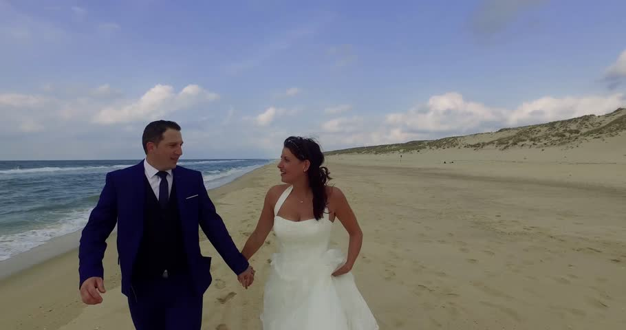 Wedding couple on the beach | Shutterstock HD Video #20447803
