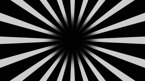 Black and white Burst vector background. Cartoon comic Background with space for your logo or title, Nice sunburst vintage style - Retro Pattern. circuses Background. seamless loop. Stripes rotating.