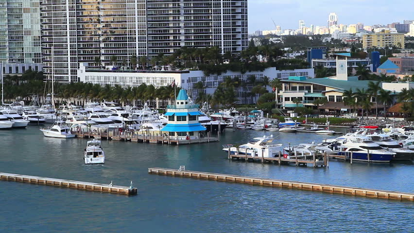luxury boats in the miami bay area, out for a summer day of fun
