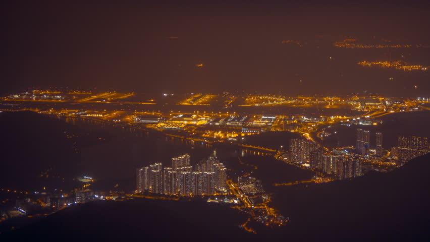 Hong Kong Airport at night 1 | Shutterstock HD Video #20490763