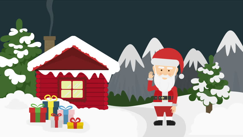 Santa Claus And Gift Box Stock Footage Video 100 Royalty Free 20491003 Shutterstock