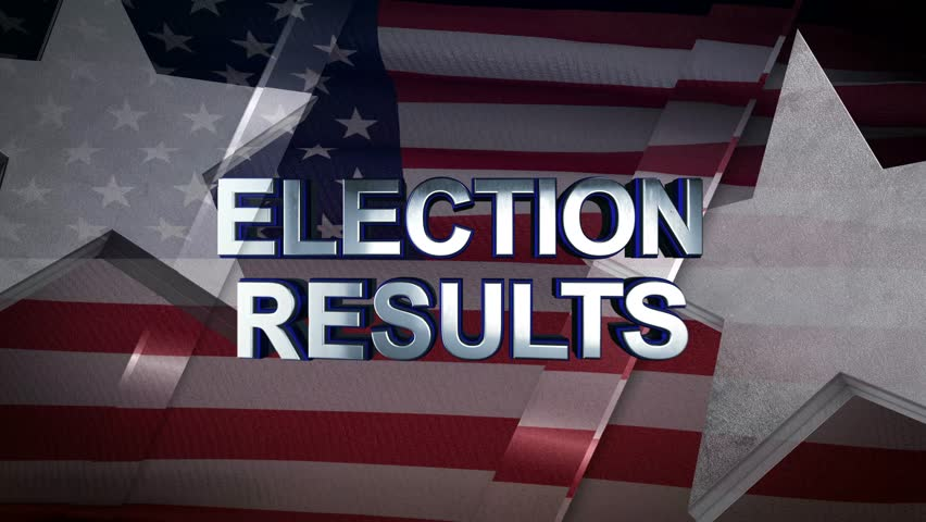 Election Results 3D Motion Graphics With American Flag Background Looping Animation 4K