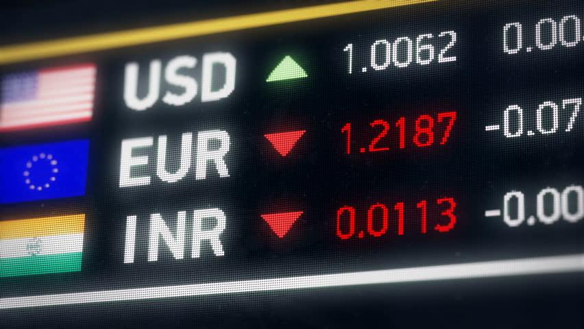 Indian Rupee, US dollar, Euro comparison, currencies falling, financial crisis. World currencies plummet down, financial crisis, stock market crash   Shutterstock HD Video #20522077