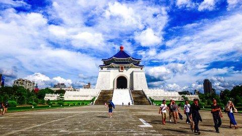 4k Time lapse of Chiang Kai-shek Memorial Hall, Taipei, Taiwan