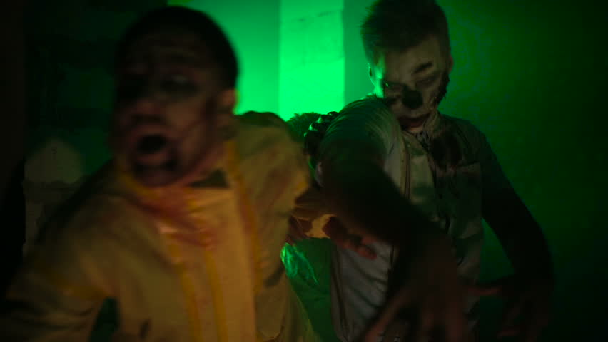 Sprint hungry zombies   Shutterstock HD Video #20539303