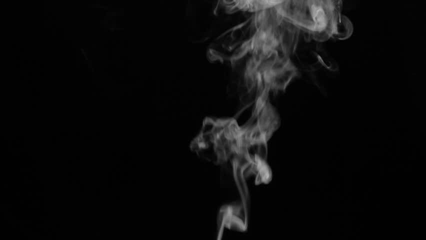 White smoke on black background | Shutterstock HD Video #20540095