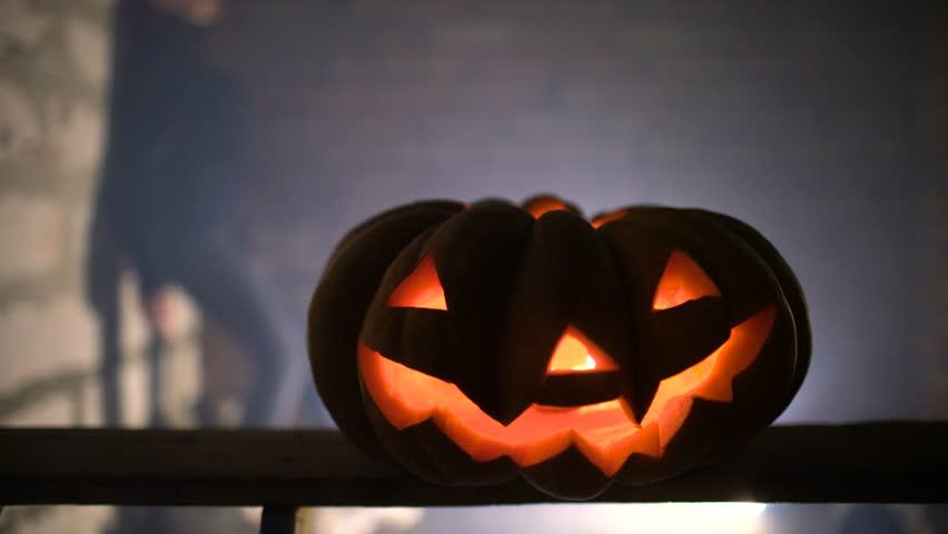 Jack-o' lantern lights | Shutterstock HD Video #20540623