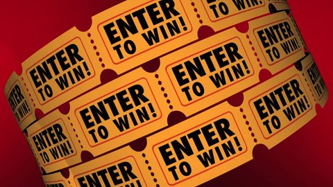 Enter to Win Tickets Contest Raffle Drawing Lottery Chance 3d Animation