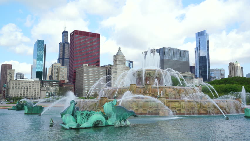 Buckingham Fountain in Grant Park, Chicago, Illinois | Shutterstock HD Video #20587333
