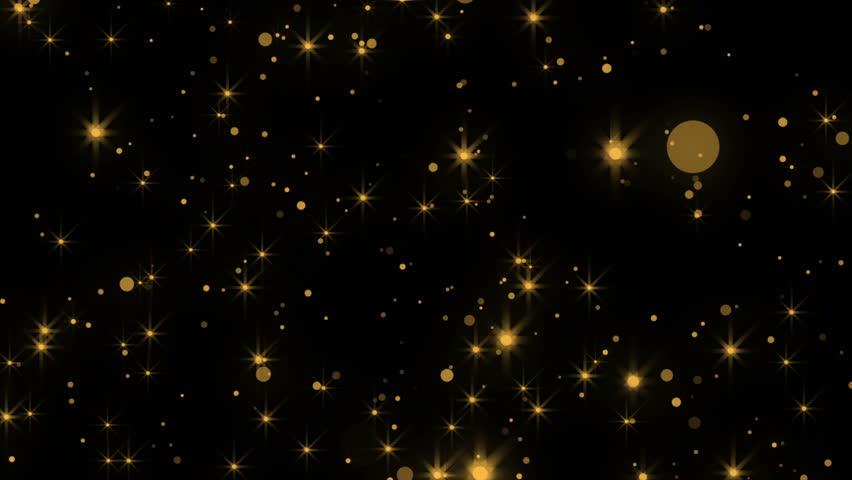 Gold Particular Background. Looped. Alpha | Shutterstock HD Video #20649622