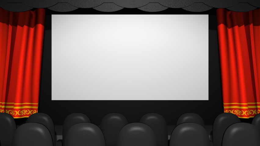 Delightful Movie Theater Cloth Curtains Open (HD). Cloth Simulated Curtains Open To  Reveal A Screen In 16*9 Aspect Ratio. You Can Place Your Movie In There  Playing For ...