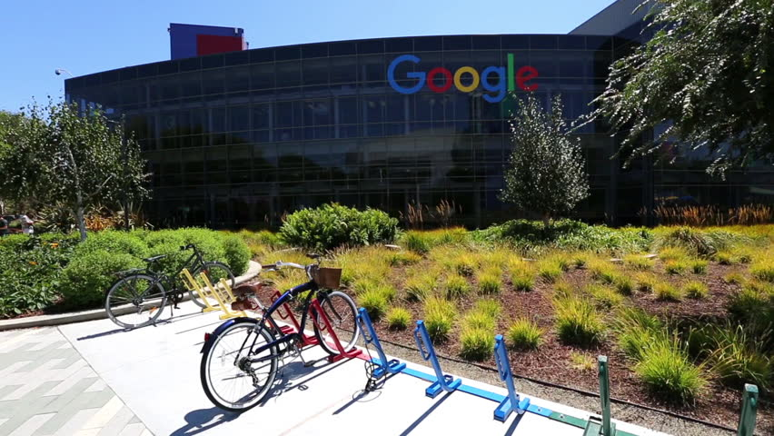 Mountain View, CA, United States - August 15, 2016: colorful bikes used by Google employees to move in the Googleplex.Google is a multinational corporation specializing in Internet enginering services