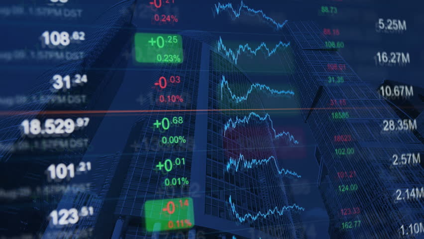 Financial background. Finance, financial markets, business concept pattern. Numbers and chart at background of financial buildings. Abstract background for market news, business and financial themes. | Shutterstock HD Video #20769247