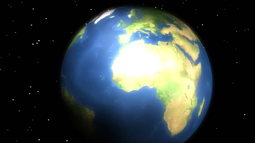 Concept animation, Earth with ticking clock.