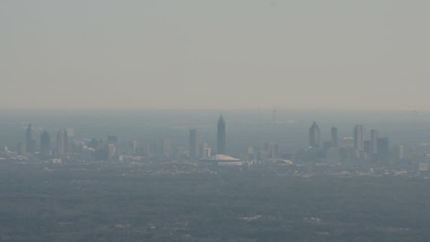 Downtown Atlanta Georgia In The Distance Stock Footage Video - Distance to atlanta georgia
