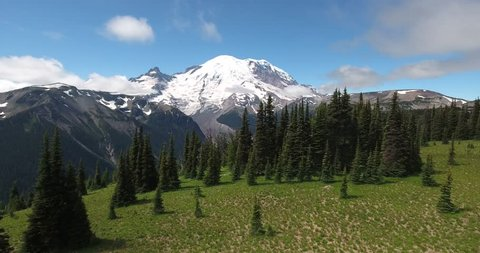 Mount Rainier National Park from the Air by Drone