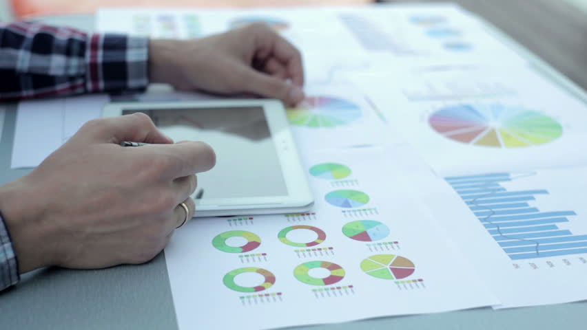 Businessman Works with Charts | Shutterstock HD Video #20907385