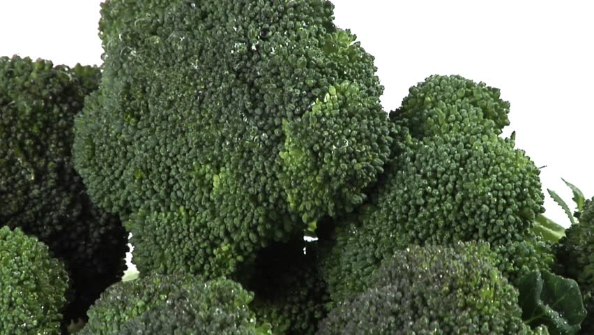 Broccoli florets laying down