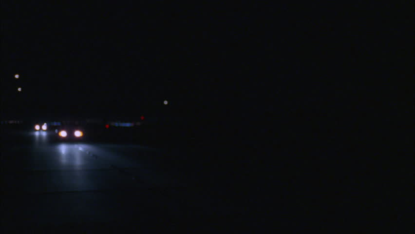 Night 45 POV driver process plate rural road | Shutterstock HD Video #20951983