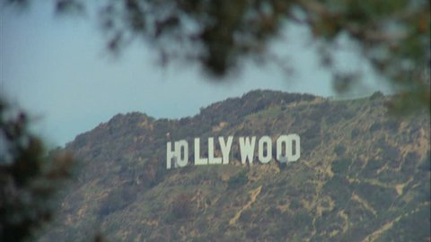 Day Hold Across Hollywood Sign Stock Footage Video 100 Royalty