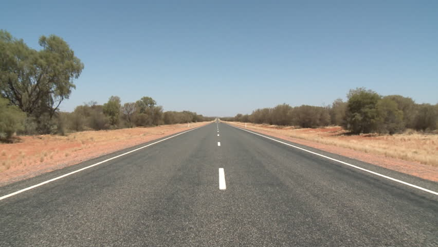 Outback Australia highway and road