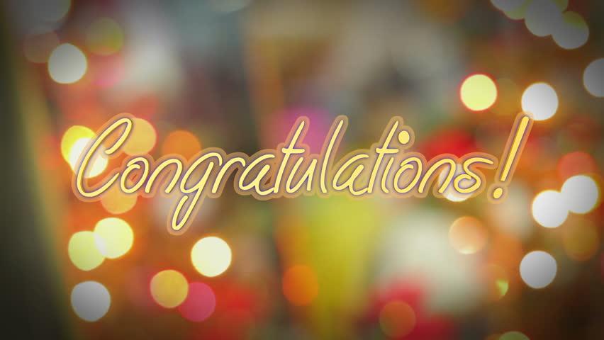 Shiny Congratulations Message, Birthday, Anniversary, Stock Footage Video  (100% Royalty-free) 21048073 | Shutterstock