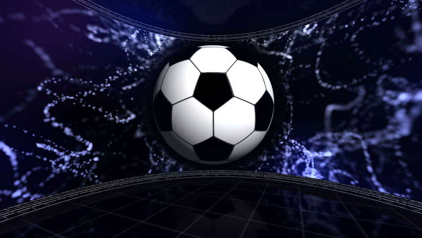Seamless Vinyl Photography Backdrop Football Stadium Match: 4K Slow Motion 3d Animation Of Soccer Ball Flying And