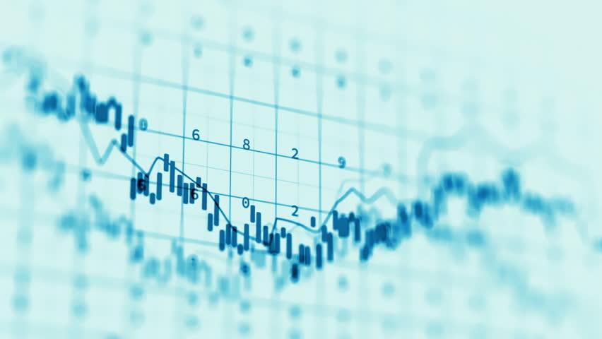 Loopable financial chart and stock market bar chart for use as  financial report and stock market presentation | Shutterstock HD Video #21056473