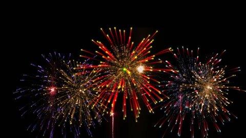 fireworks display happy new year celebrate day
