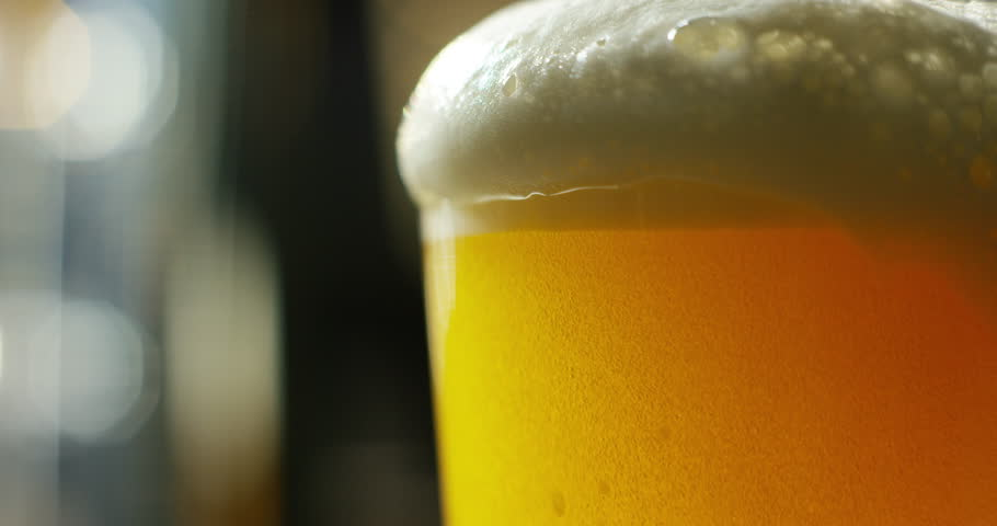 Craft beer and traditional Irish pubs. Macro bubbles, craft lager perfectly pinned professional dowel. Pubs and bars. Freshness and refreshing beverages