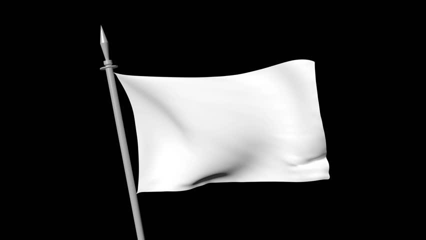 white flag waving over black