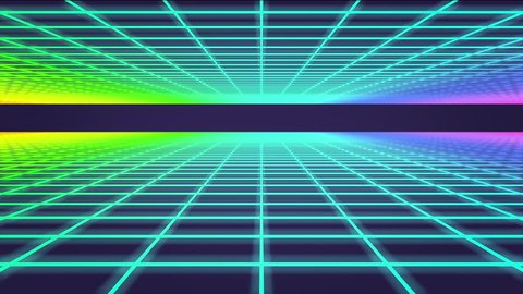 3D Animation - Retro background mesh loop