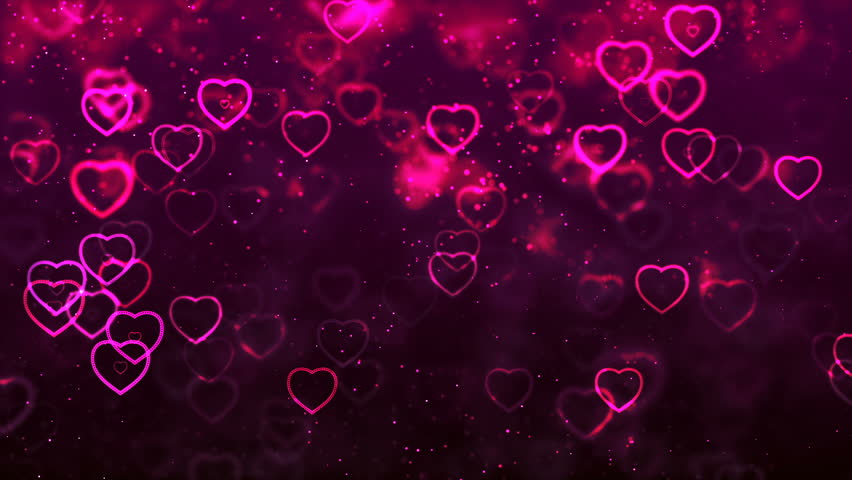 Pink Moving Hearts Stock Footage Video 1541104