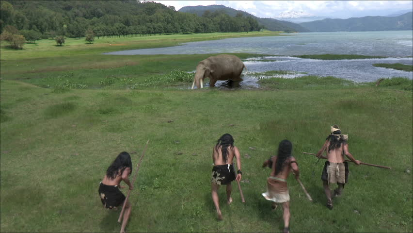 Mammoth baby hunted by humans