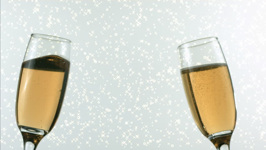 Champagne Glasses Toast to Celebrate Stock Footage Video (100 ...