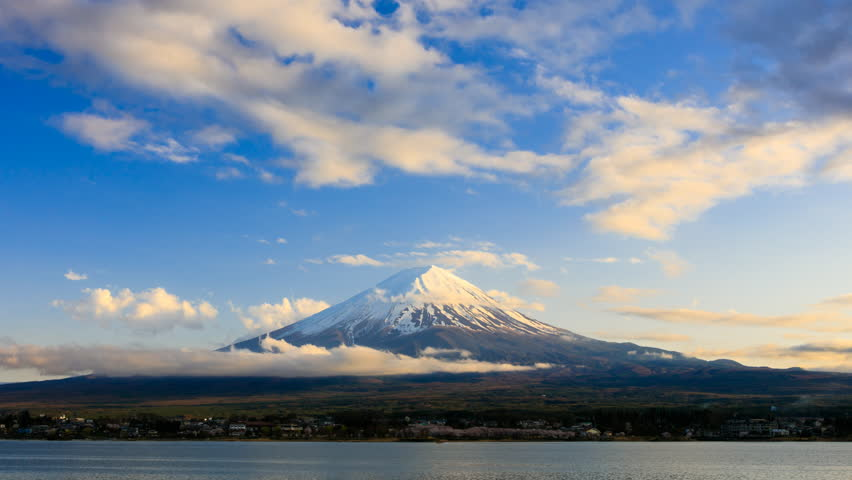 4K Timelapse rolling clouds over Mt.Fuji at sunset, Japan  | Shutterstock HD Video #21227203