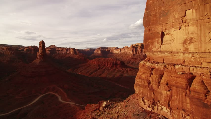 Rock Formation Canyon Aerial Sunset 38 Valley | Shutterstock HD Video #21230563