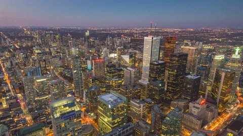 Downtown Toronto from Day to Night | Nov 12 2016, Toronto, Ontario, Canada | 4K timelapse clip shot of Toronto's downtown